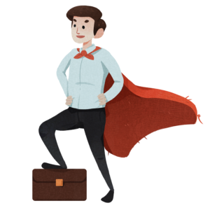 hero with cape- employee onboarding software