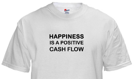 happiness is a positive cash flow