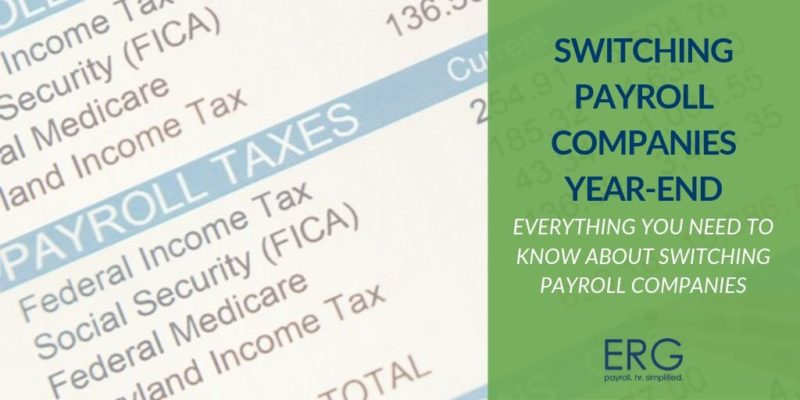 Switching Payroll Companies